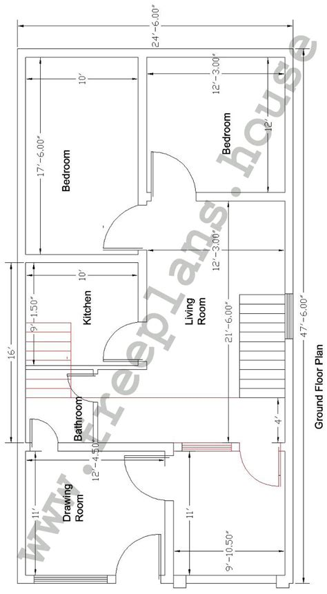 48 square feet 25 215 48 111 square meter house plan