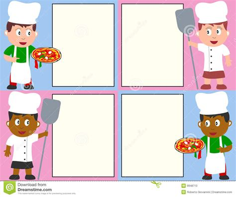 Pizza Chefs And Menu Stock Photos   Image: 9948713