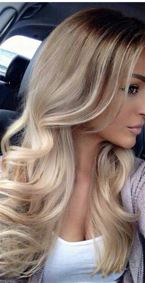 long hair big chunck color ideas for summer sarı ombre modelleri bakımlı kadın