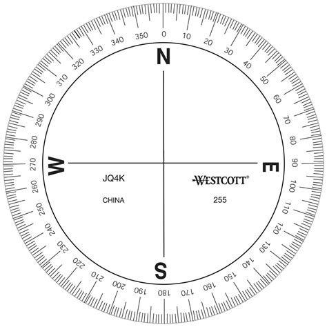 printable map protractor azimuth compass protractor forestry suppliers inc