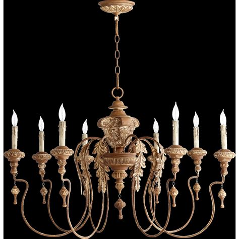 Candlelight Chandelier Quorum Salento 8 Light Candle Chandelier Reviews Wayfair