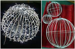 outdoor 3d christmas lighted balls warm white view
