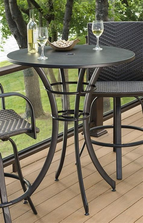 Empire Collection Round Pub Table Patio Tables Balcony Bistro Set Patio Furniture
