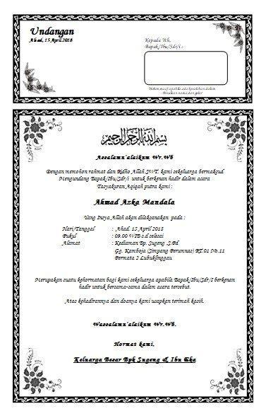 cara membuat undangan akikah kata kata undangan aqiqah pelangiaqiqah co id