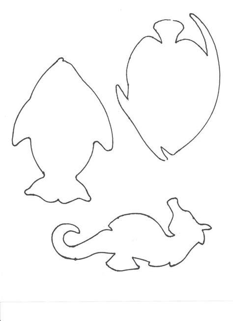 felt templates animals vissen en zee dingen zee knutselen fish
