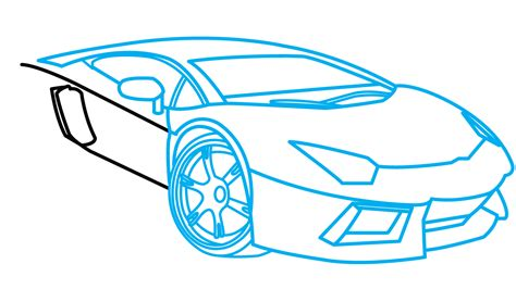 How To Draw A Lamborghini Step By Step How To Draw Lamborghini Aventador A Car Easy Step By