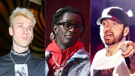Young Thug Says Machine Gun Kelly Quot Murdered Quot Eminem
