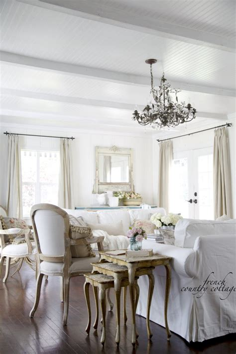 cottage living room furniture white summer touches keeping it simple french country cottage