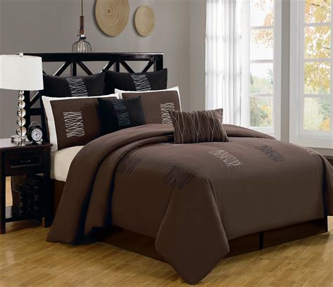 chocolate bedding sets king 7 pieces chocolate brown