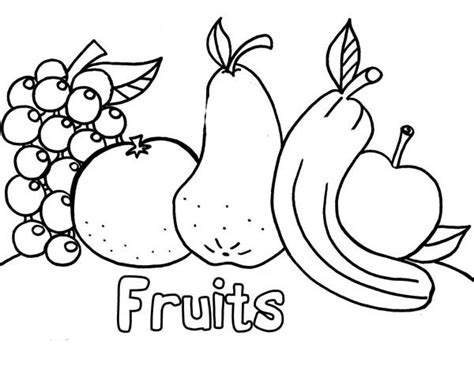 coloring page of a cornucopia with the fruit crafty inspiration cornucopia fruit coloring pages best