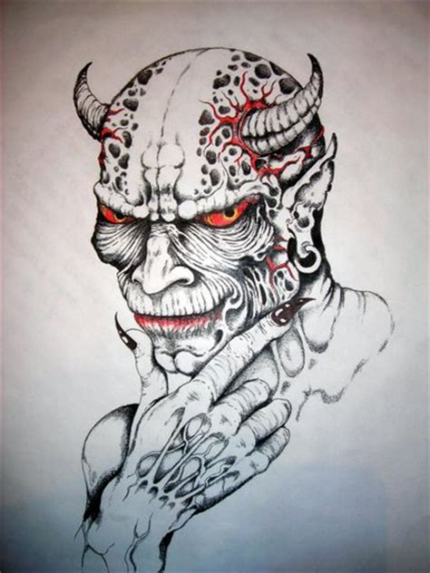 evil demon demonic flash tattoo image galleries evil