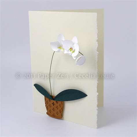 3d Paper Cards Template by 3d Paper Orchid Birthday Card Make The Cut Forum