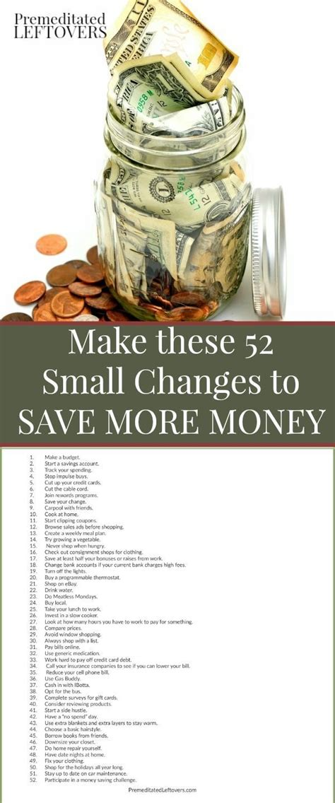 change money for new year make these 52 small changes to your spending habits to