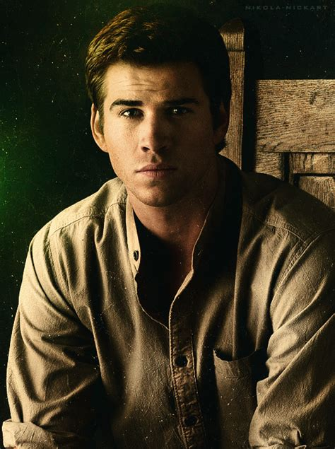 Liam Hemsworth as District 12 resident Gale Hawthorne in ... Liam Hemsworth The Hunger Games Character