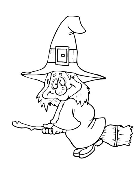 halloween witch coloring page purple kitty