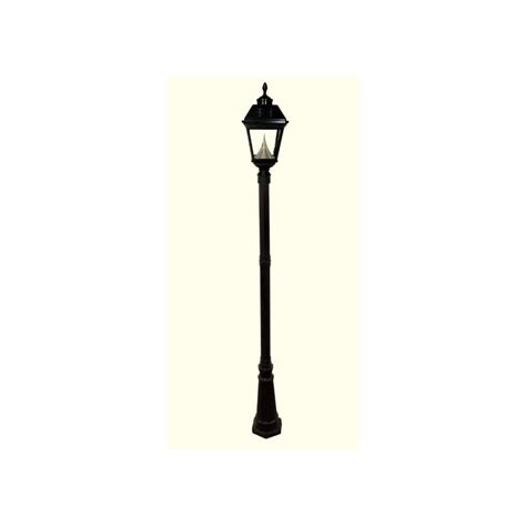 Shop Gama Sonic Imperial 102 In H Black Solar Led Post Solar Lights Lowes
