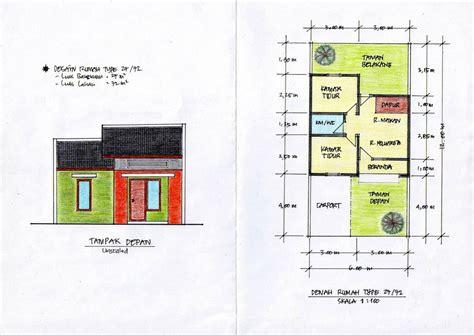 denah rumah minimalis 7x10 rumah minimalis