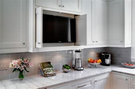 tv kitchen cabinet tv in kitchen cabinet possible