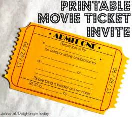 Free printable movie ticket invite video tutorial on how to create