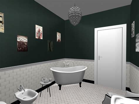 piastrelle lucide pavimento bagno realizzato in stile retro chic piastrelle da
