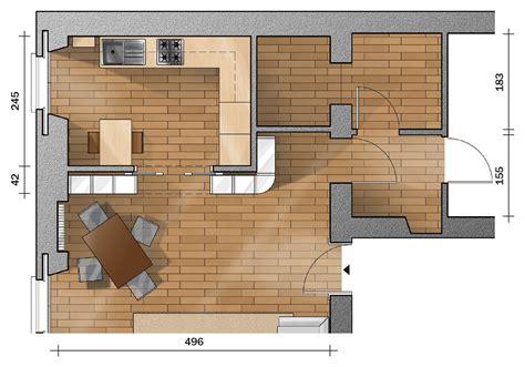 dividere cucina da soggiorno separare cucina e soggiorno con un mobile a ponte sulla