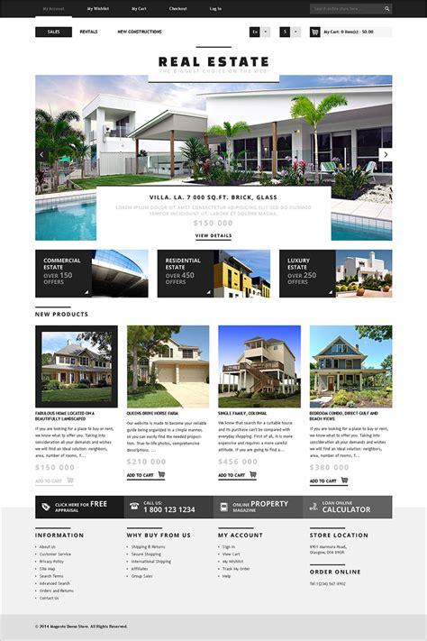 real estate premium templates responsive magento real estate templates free premium themes