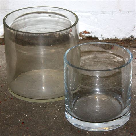 clear glass wide cylinder vase ten and a half thousand