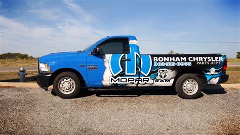 Bonham Chrysler Dodge Trucks by Dodge Ram 2500 Partial Wrap For Bonham Chrysler Car Wrap