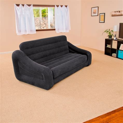 blow up settee black inflatable double blow up cing kids air bed sofa
