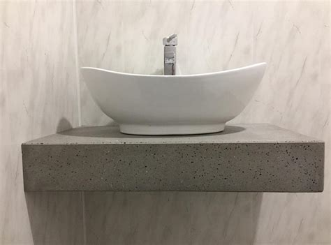 Polished Concrete Vanity by Polished Concrete Vanities Bowls And Shower Panels