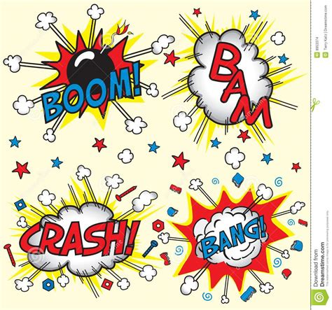 crash bang boom and bang stock images image 8953374