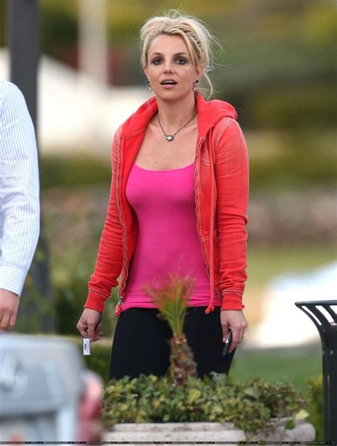 Britneys Wears Pink by Wear Tight Pink Top And Black 03