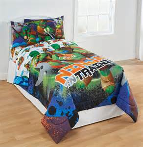 turtle bedroom furniture 4pc mutant turtles bedding set