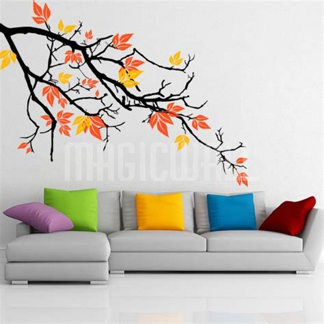 pretty wall stickers wall decals pretty autumnal branch wall stickers