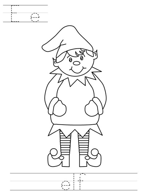 coloring pages for elf elves coloring pages