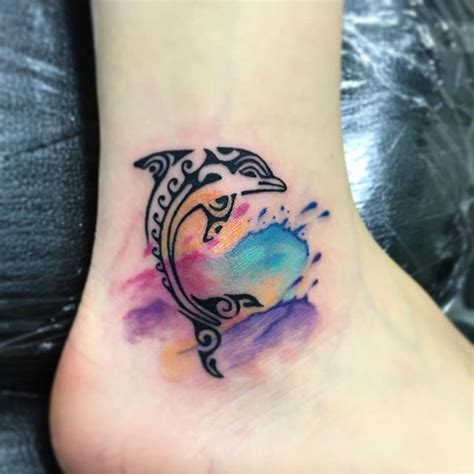 watercolor tattoo singapore 17 best ideas about dolphins on tribal