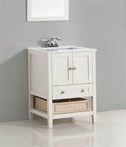 White Powder Room Vanity Cape Cod 24 Quot Bath Vanity With White Quartz Marble Top