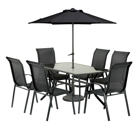 garden table and chairs set homebase royalcraft cayman rectangular 6 seater dining set