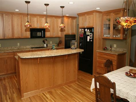 Granite Colors For Kitchen Countertops Oak Cabinets With Kitchen Colors With Oak Cabinets And Black Countertops