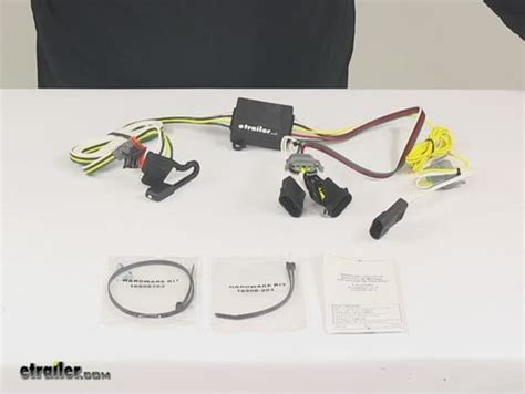 t one vehicle wiring harness with 4 pole flat trailer