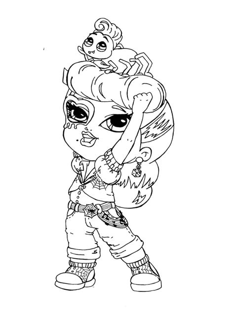 Little Monster High Coloring Pages | little monster high operetta coloring page monster high
