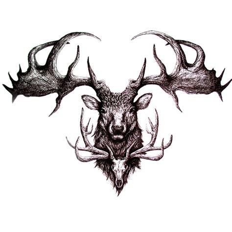 henna tattoos red deer 3d waterproof temporary tattoos sticker dead deer pattern