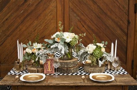 Rustikale Hochzeitsdeko selber machen   warme Erdfarben