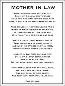 mother in law wedding day mother in law poem diy printable mother in law in laws and law