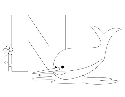 n coloring pages preschool free printable alphabet coloring pages for kids best