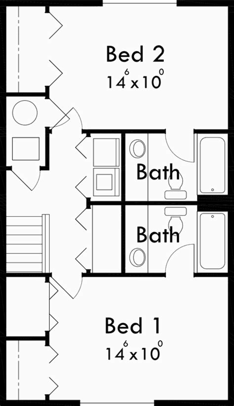 duplex floor plans for narrow lots narrow lot duplex house plans 2 bedroom duplex house plan