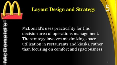 layout strategy for mcdonalds mcdonalds operations managment
