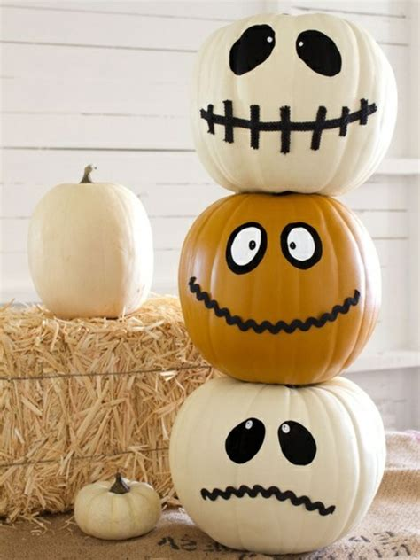 Painted Pumpkins by Tolle Halloween Dekoration Selber Machen Archzine Net