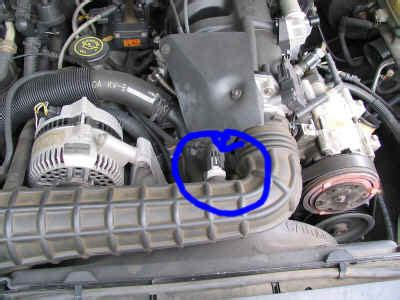 where is my iat air intake sensor : engine performance