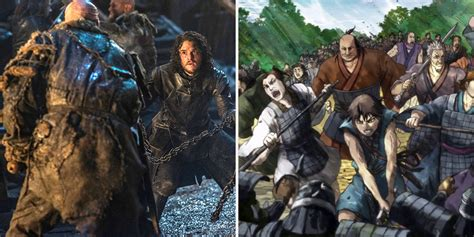 series similar to game of thrones anime series similar to game of thrones screen rant